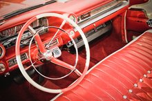 red classic car conditioned leather interior in Arlington TX